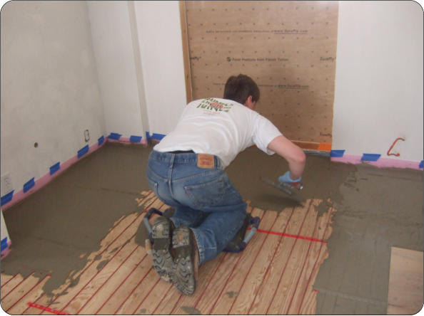 Self Leveling Thinset : Leveling tile with thinset design ideas