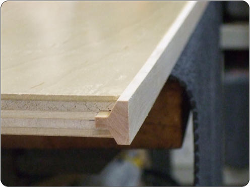Good Both The Strips And Plywood Recessed Are Made On The Shaper Using Matching  Cutters That Have Reversed Patterns From Each Other. Here We See A Panel  Attached ...